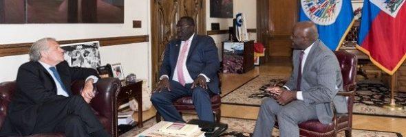 En Washington, Bocchit Edmond intenta tranquilizar a los socios sobre la situación de Haití