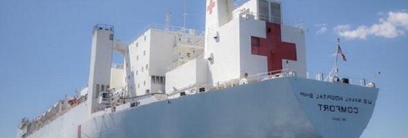 El buque hospital estadounidense llega a Haití