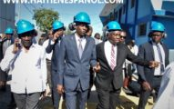 El presidente Moïse visita las centrales eléctricas de Varreux