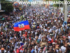 Jojo dòmi deyò decenas de miles de manifestantes artistas a la cabeza exigen la renuncia del presidente Moïse